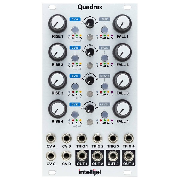 intellijel Quadrax, 3U - Front