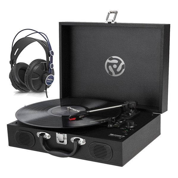 Numark PT01 Turntable with Subzero SZ-MH200 Headphones
