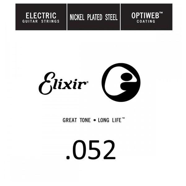 Elixir E16252 Optiweb Electric Single String, .052 - Front View
