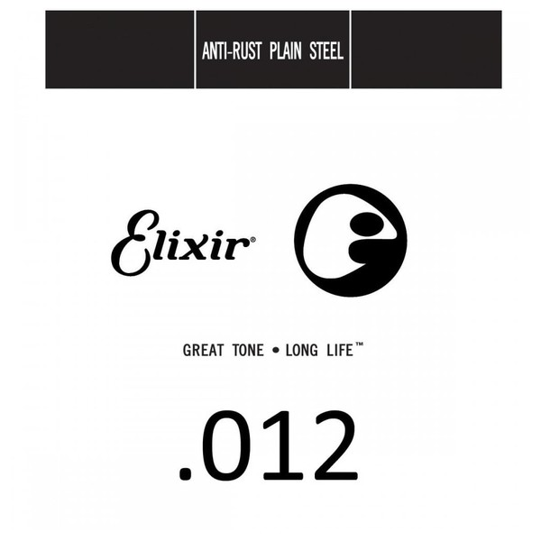 Elixir E13012 Plain Steel Single String, .012