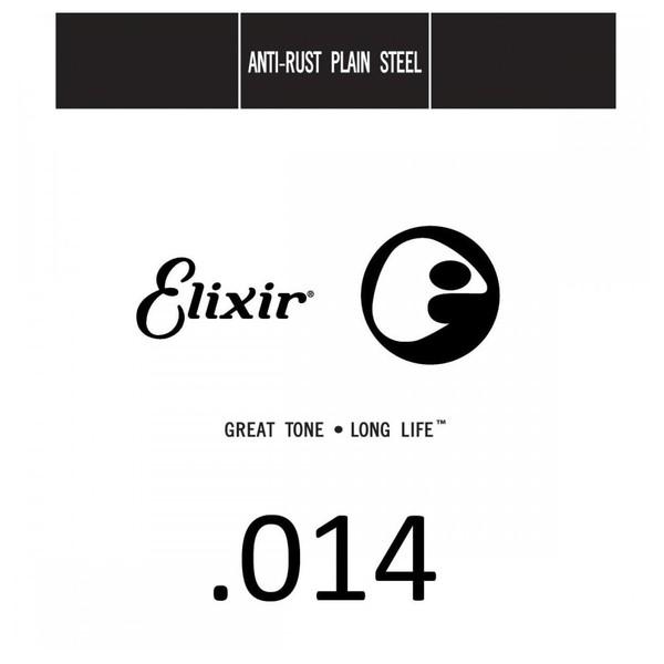 Elixir E13014 Plain Steel Single String, .014