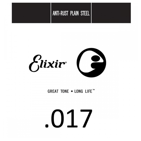 Elixir E13017 Plain Steel Single String, .017