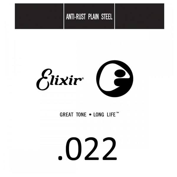 Elixir E13022 Plain Steel Single String, .022