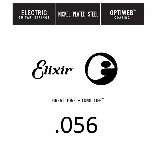 Elixir E16256 Optiweb Electric Single String, .056 - Front View