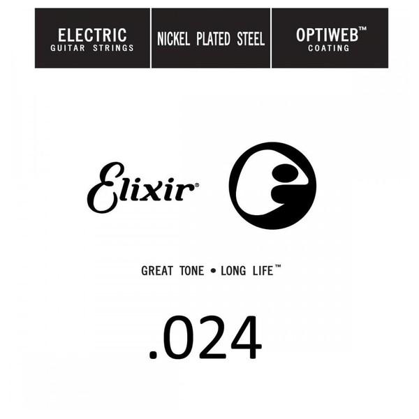Elixir E16224 Optiweb Electric Single String, .024 - Front View
