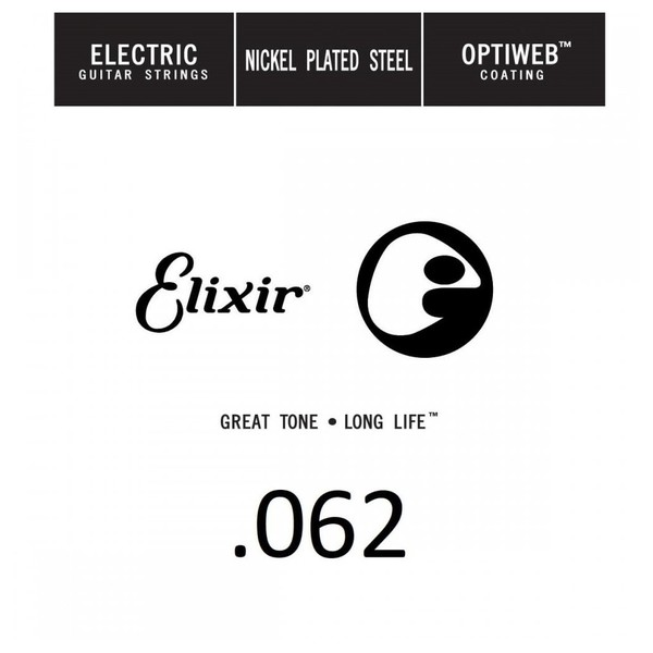 Elixir E16262 Optiweb Electric Single String, .062 - Front View