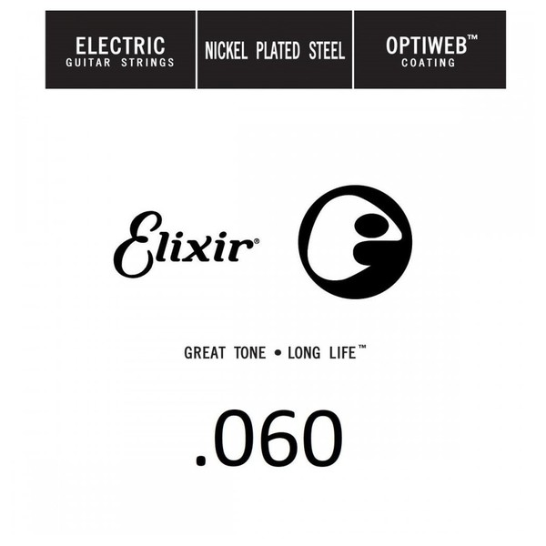 Elixir E16260 Optiweb Electric Single String, .060 - Front View