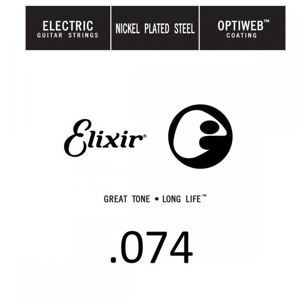 Elixir E16274 Optiweb Electric Single String, .074 - Front View