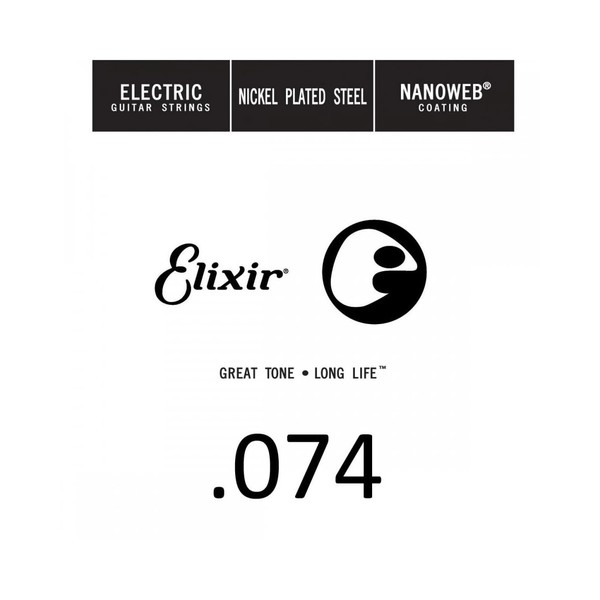 Elixir E15274 Nanoweb Electric Single String, .074