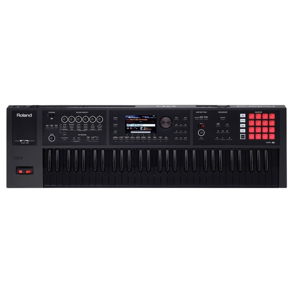 Roland FA-06B Music Workstation, Black Keyboard Edition - Top