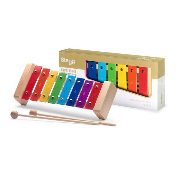Stagg 8 Note Metallophone, Rainbow Keys