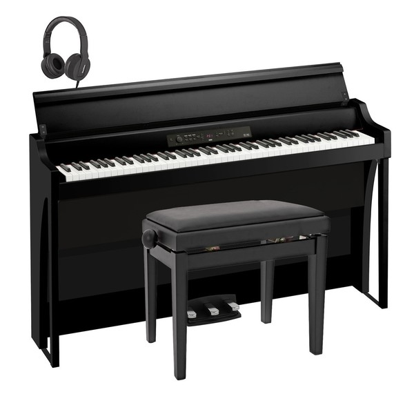 Korg G1 Air Digital Piano Package, Black, New Model
