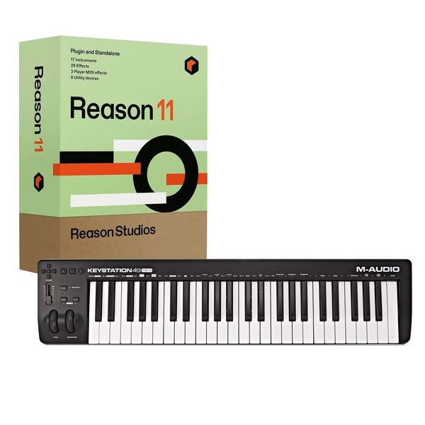 M-Audio Keystation 49 MKIII with Upgrade to Reason 11 - Full Bundle