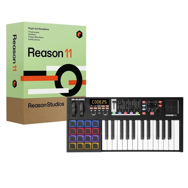 M-Audio Code 25 with Upgrade to Reason 11 - Full Bundle