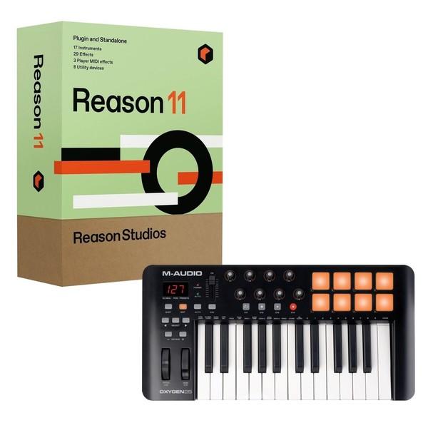 M-Audio Oxygen 25 V4 with Upgrade to Reason 11 - Full Bundle