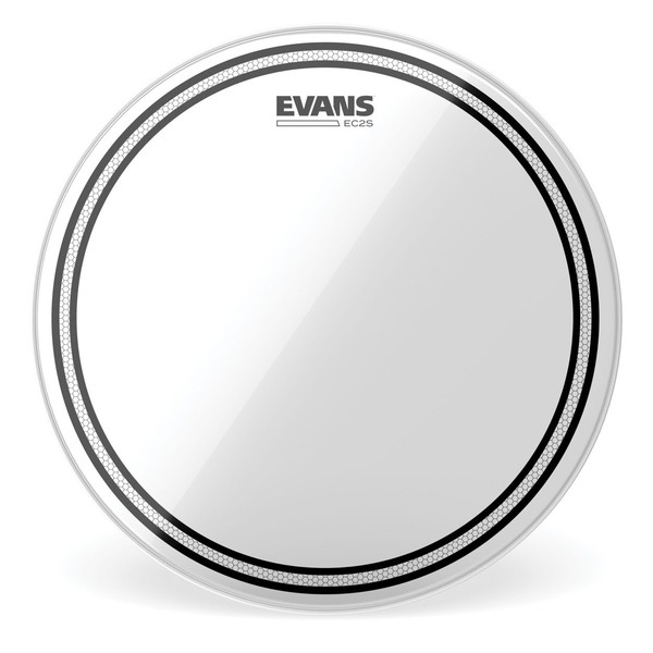 Evans EC2 Edge Control SST Clear Drum Head, 10''