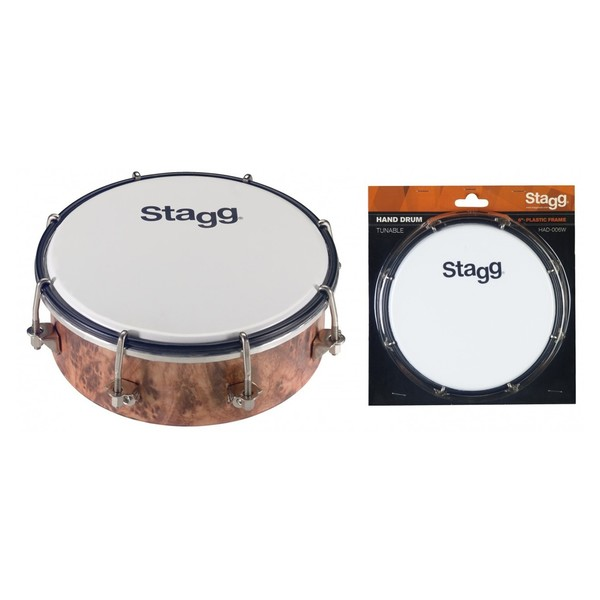 Stagg 6'' Tunable Hand Drum, Plastic