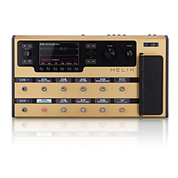 Line 6 Helix Multi-Effects Pedal Ltd Ed, Gold - front