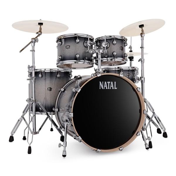 Natal Arcadia 22'' Am. Fusion 5pc Drum Kit, Black Sparkle Sunburst - main image