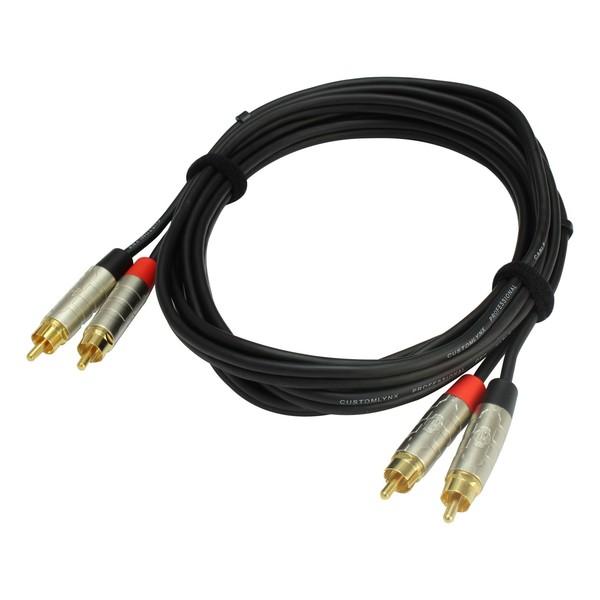 Rean Neutrik 5mt Twin RCA Phono Cable