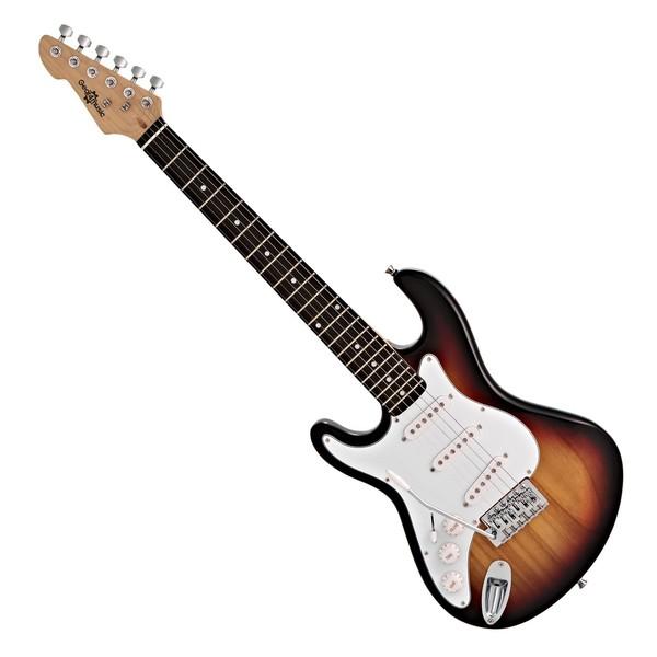 3/4 LA Left Handed Electric Guitar by Gear4music, Sunburst