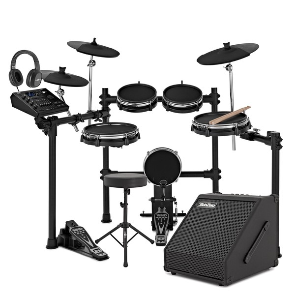 WHD 650-DX Mesh Electronic Drum Kit & 60W Amp Pack