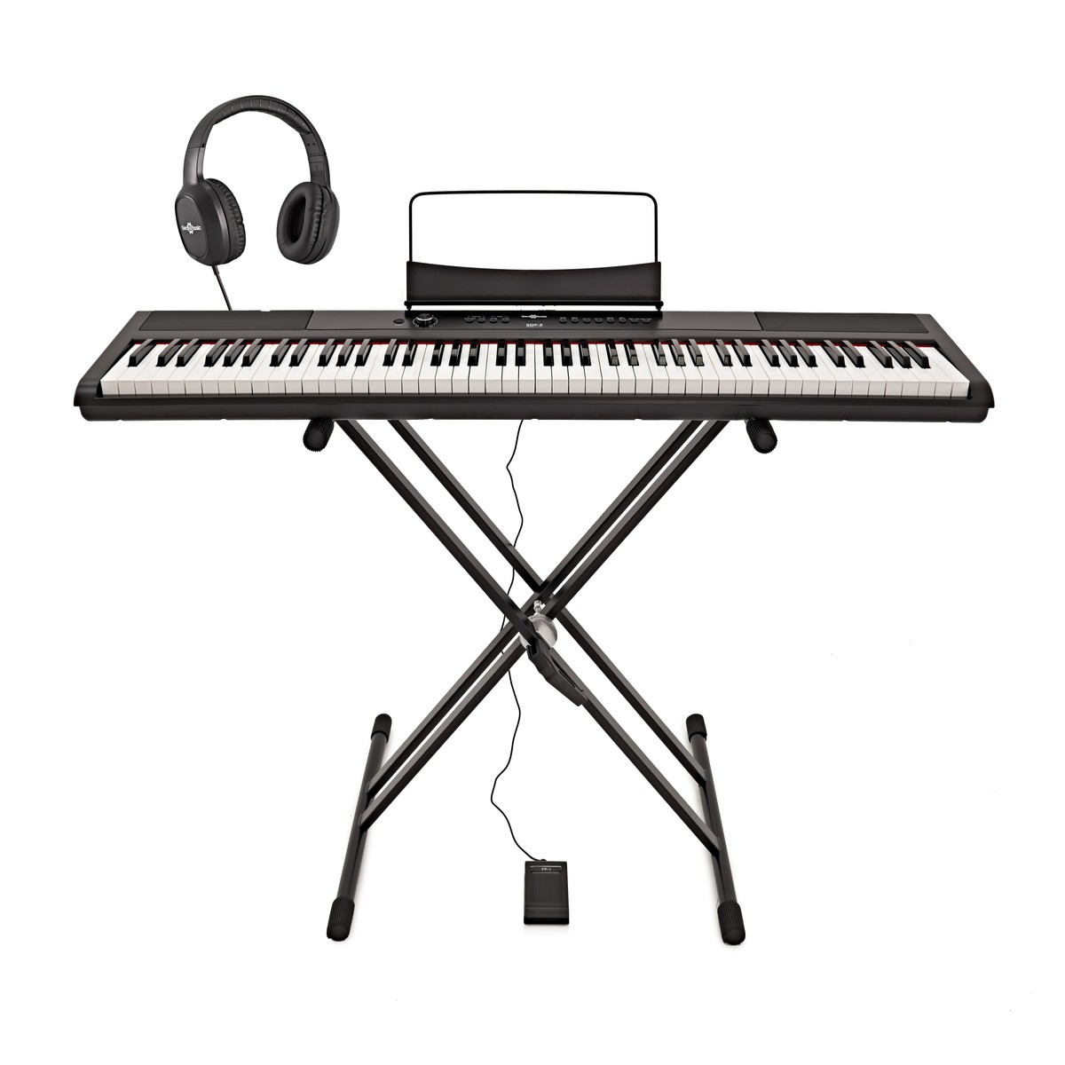 SDP-2 Stage Piano by Gear4music   Stand, Pedal and Headphones