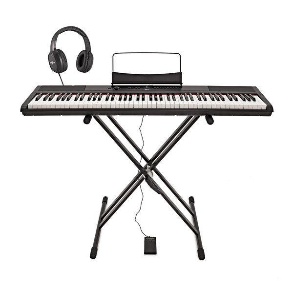 SDP-2 Stage Piano by Gear4music + Stand, Pedal and Headphones