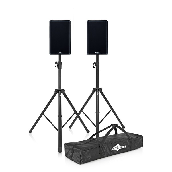 "QSC K8.2 8"" Active PA Speakers Pair with Stands"