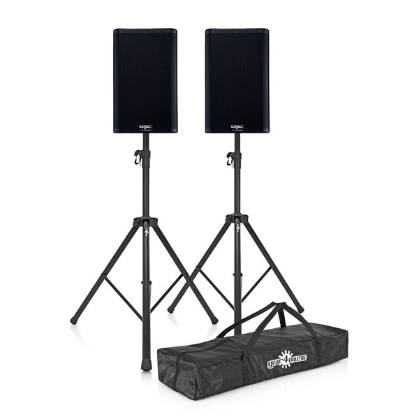 "QSC K12.2 12"" Active PA Speakers Pair with Stands"