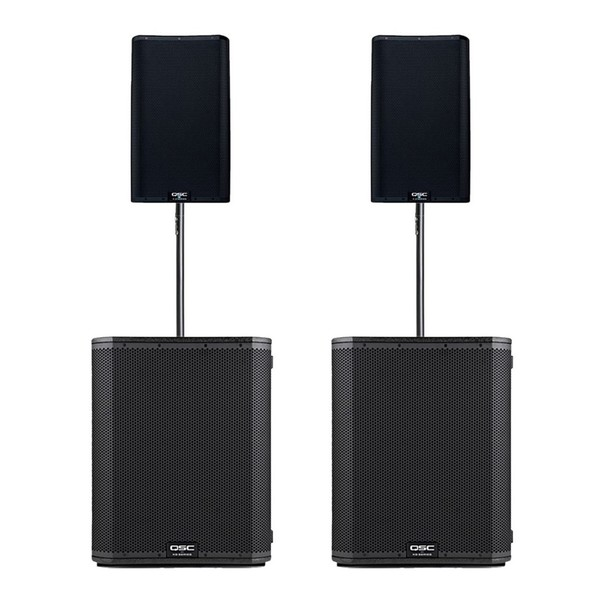 QSC K12.2 and KS118 Stereo System with Free K12.2 Tote Bags