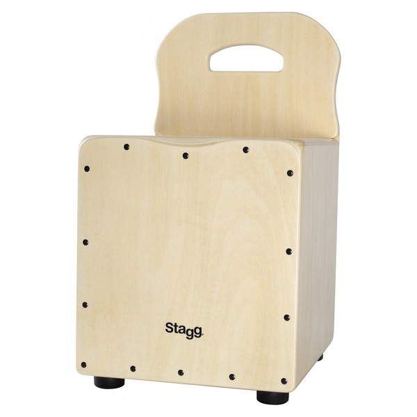 Stagg Kids Cajon With Back Rest, Natural - front