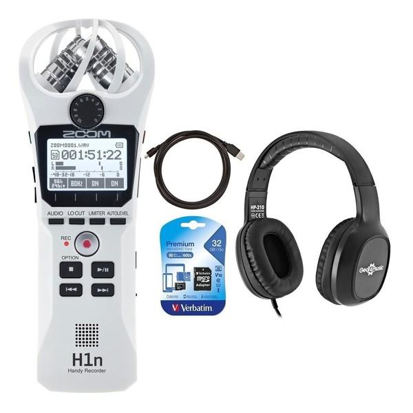 Zoom H1n Field Recording Bundle, White