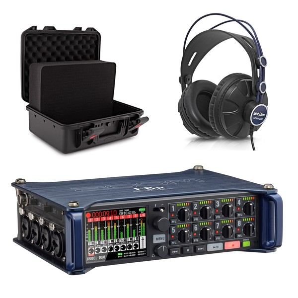 Zoom F8N MultiTrack Field Recorder with Case and Headphones