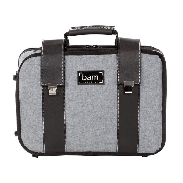 BAM 3028 Double Clarinet Case, Grey Flannel