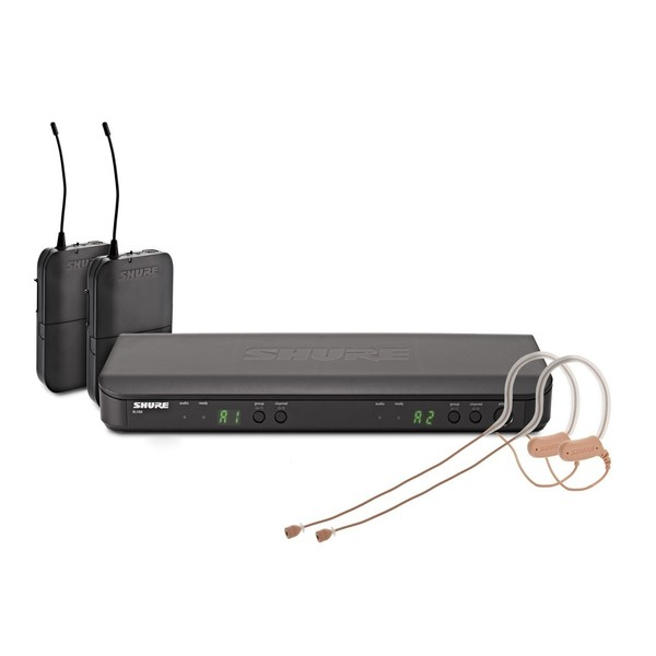 Shure BLX188E/MX53-S8 Dual Wireless Earset System with 2 x MX153