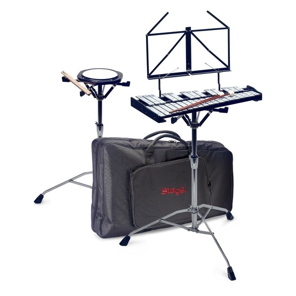 Stagg Metallophone With Practice Pad & Stand