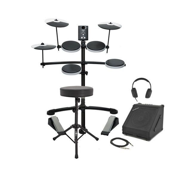 Roland TD-1K Electronic Drum Kit with Amp, Stool, and Sticks