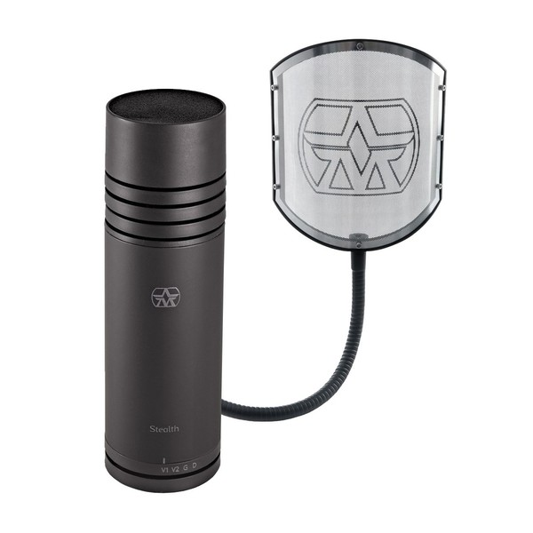 Aston Stealth Microphone with Shield GN Pop Filter | Gear4music