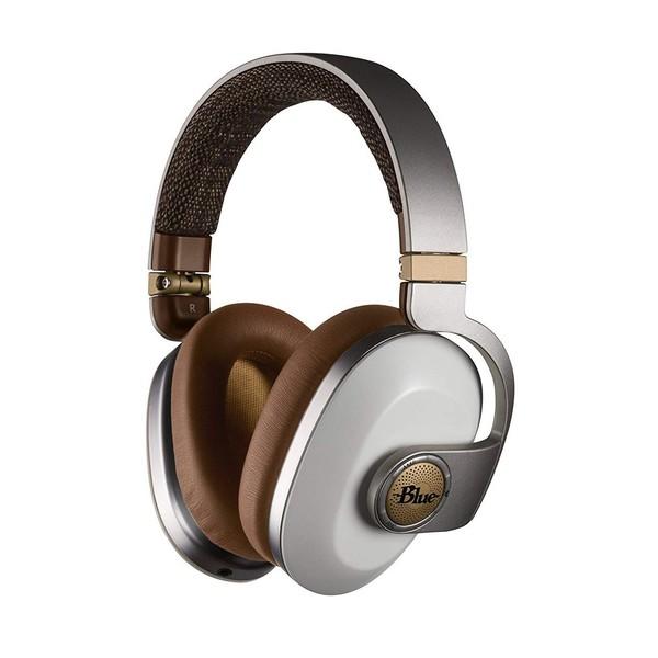 Blue Satellite White Noise Cancelling Headphones