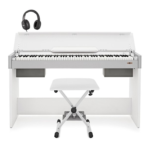 DP-7 Compact Digital Piano by Gear4music + Accessory Pack, White