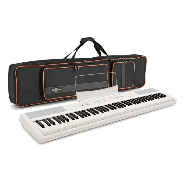 SDP-2 Stage Piano and Bag Bundle by Gear4music, White