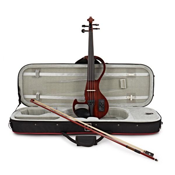 Hidersine HEV3 Electric Violin, Zebrawood Finish