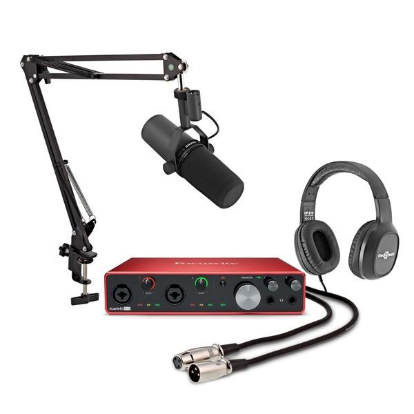 Focusrite Scarlett 8i6 Podcasting Bundle with Shure SM7B - Full Bundle