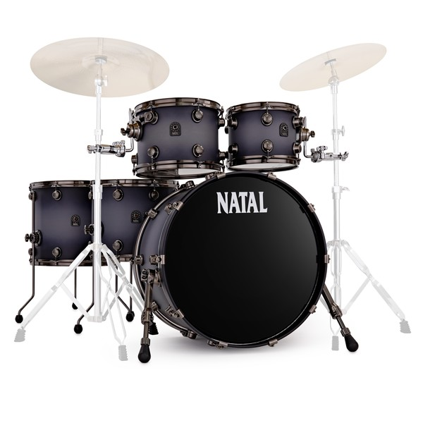 Natal Originals Walnut Maple 22'' 5pc Shell Pack, Pewter Grain