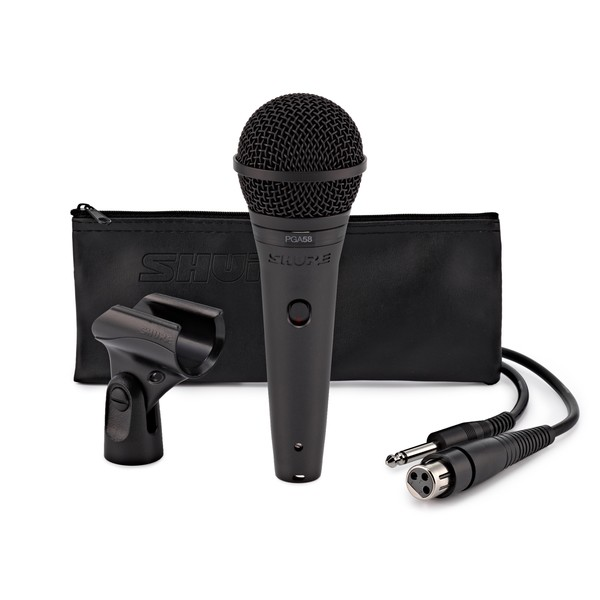 Shure PGA58 Cardioid Dynamic Vocal Microphone with XLR to Jack Cable