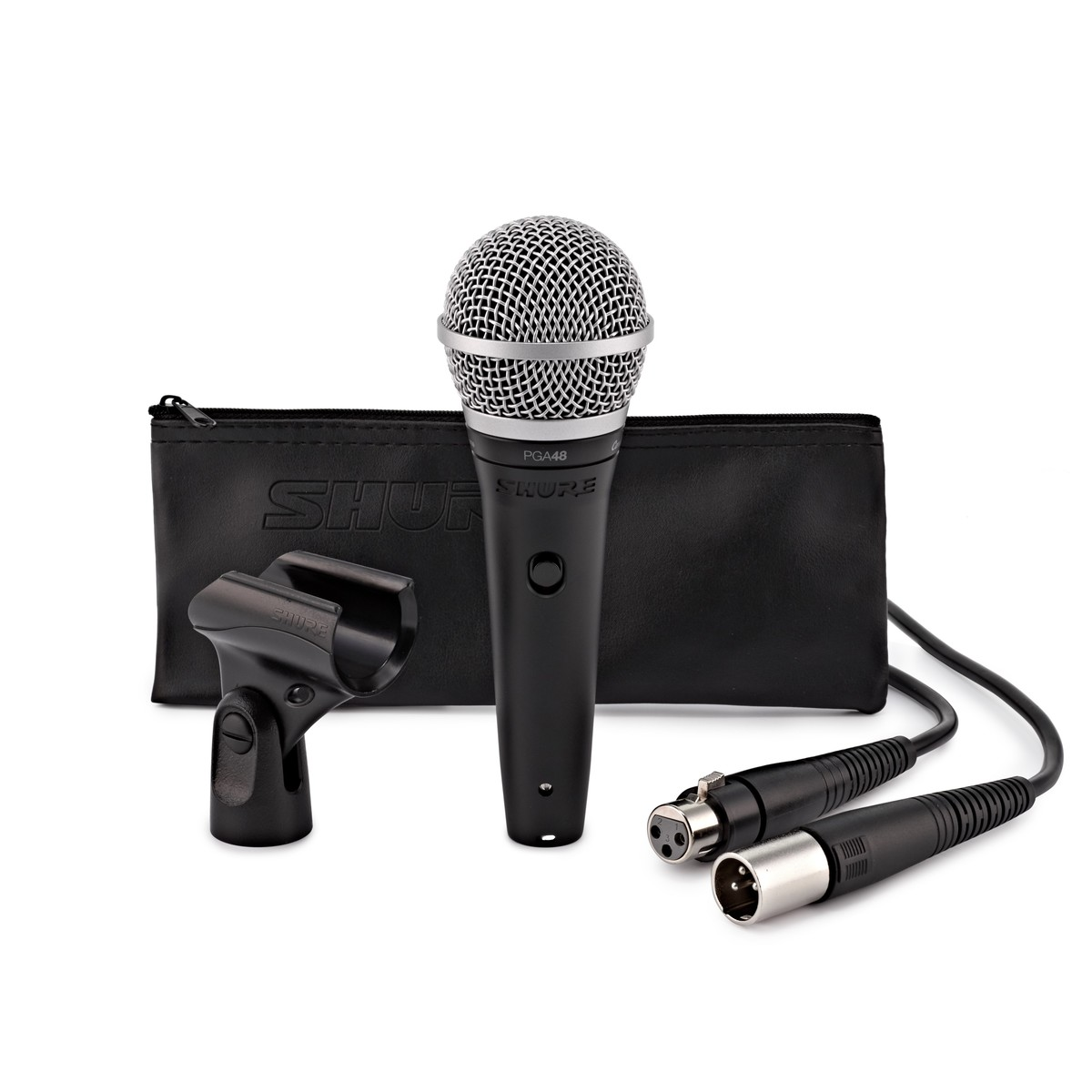 Shure PGA48 Cardioid Dynamic Vocal Microphone with XLR Cable