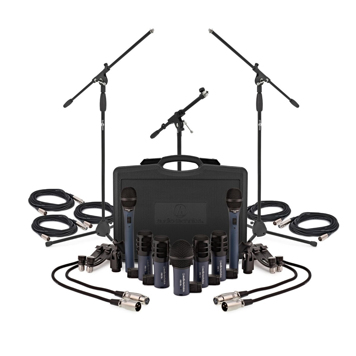 Audio Technica MBDK7 7 Piece Drum Microphone Set at Gear4music