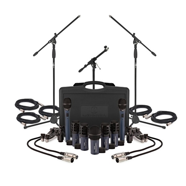 Audio Technica MB/Dk7 Microphone Set with Stands & Cables