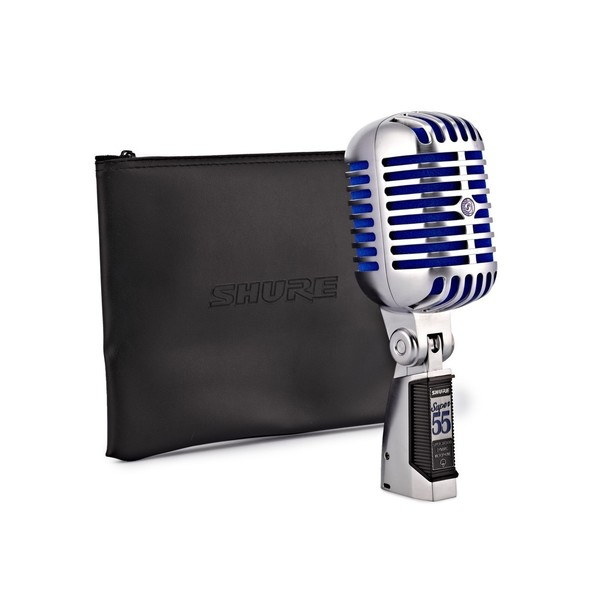Shure Super 55 Deluxe Vocal Microphone with Stand and 6m